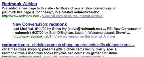 Redmonk, Circa 2001