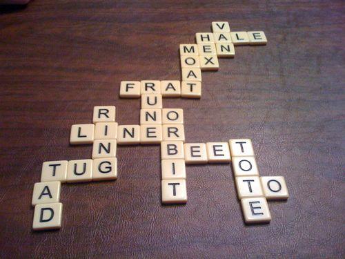 My evening winning Bananagrams board